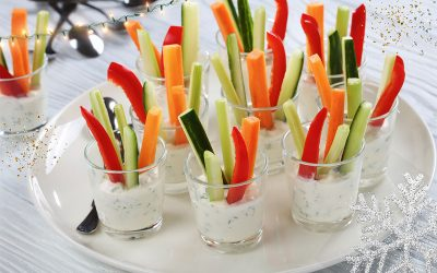 Present your crudités in a small glass
